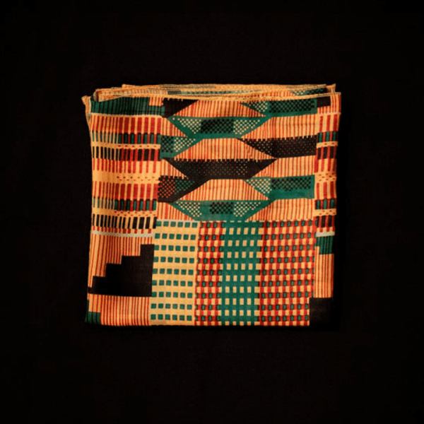 Ancestry Scarf with African Kente Print